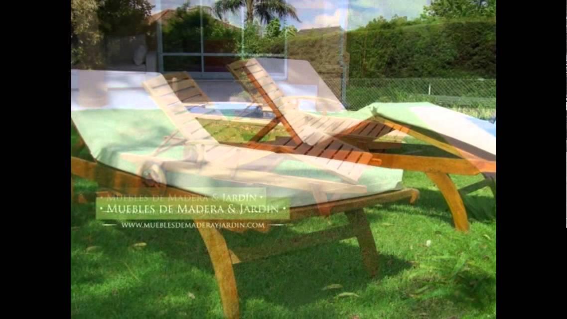 Camastros de teka muebles de madera y jard n com youtube - Muebles teka jardin ...