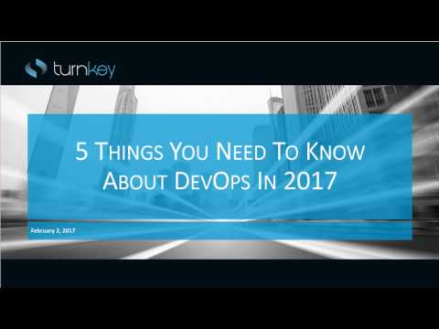 5 Things You Need to Know about Quality-Driven DevOps in 2017