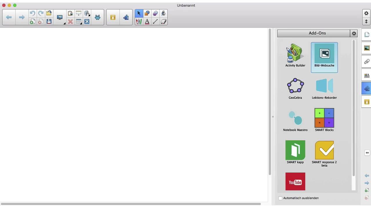 Das Add-On Bild-Websuche der SMART Notebook® 16 Software