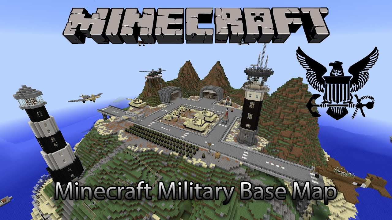 Minecraft Amazing Military Base Map (Download)   YouTube