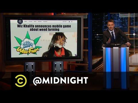 Wiz Khalifa's Weed Farm - @midnight with Chris Hardwick