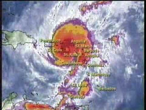 TWC Hurricane Lenny coverage 1999: Clip 5