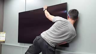 "Gambar cover Samsung QLED 65"" 8K 2019 Wall Mount . No Gap + Standard Hama bracket. 65Q950R. How I hang a TV."