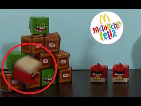 Angry Birds de Papel para Jogar do McDonalds Happy Meals Game