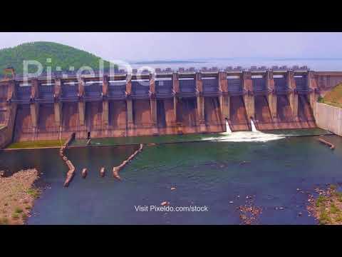 Chandil Dam Aerial Stock Video