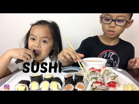 SUSHI | Mukbang| *smacking | N.E Lets Eat