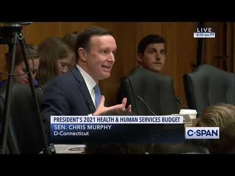 Murphy Presses Azar on Trump Administration Response to Coronavirus, HHS Budget Request
