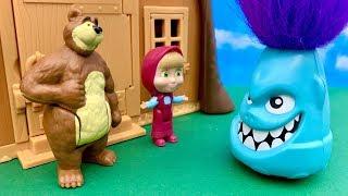 ☺️ Masza i Niedźwiedź i Potworek  On naprawde jest miły  Bajka dla dzieci PO POLSKU