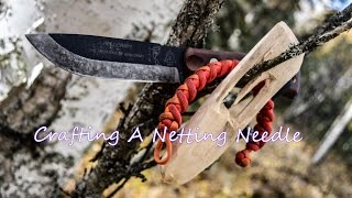 Bushcraft Skills, How I Craft A Netting Needle-AlaskanFrontier1