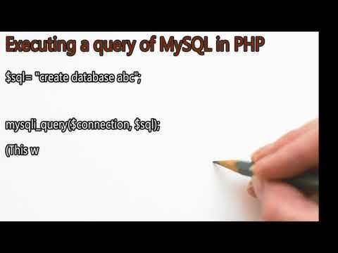 How to connect MySQL to a PHP script