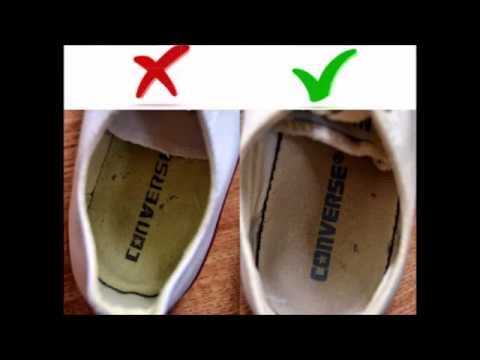 alguna cosa Marcar Edad adulta  CONVERSE - FAKE vs. Original - YouTube