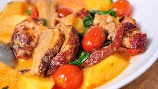 [Thai Food] Red Curry with Roast Duck (Gang Phed Ped Yang)