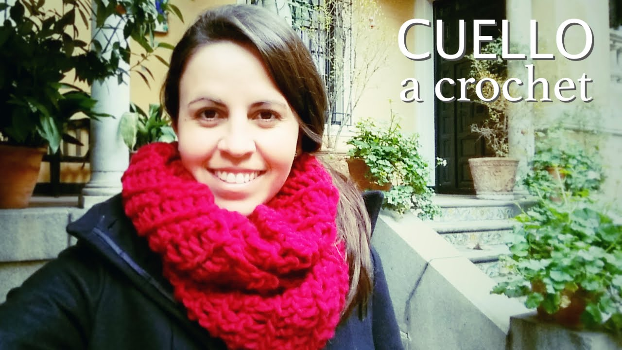 161 Crochet Con Los Dedos Cuello Bufanda Infinita How To