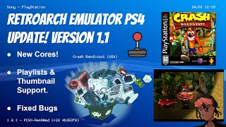RetroArch Emulator PS4 Update! Version 1.1 | New Cores, Thumbnail/Playlist Support, Fixed Bugs #PS4
