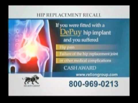 DEPUY HIP REPLACMENT TV AD -Class Action Lawsuit