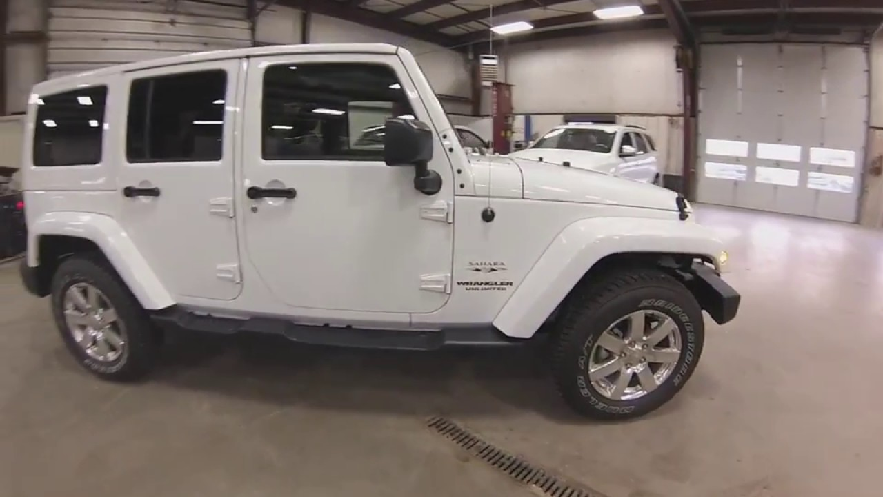 2017 White Jeep Wrangler Sahara Unlimited Sj6268 Motor Inn Auto Group