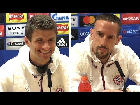 Thomas Muller & Franck Ribery Full Pre-Match Press Conference - Arsenal v Bayern Munich