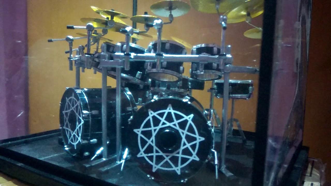 miniature drum set joey jordison ex slipknot youtube. Black Bedroom Furniture Sets. Home Design Ideas