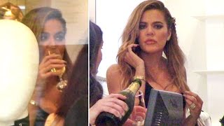 Khloe Kardashian Drinks Some Champagne While Celebrating Her 'Good American' Success At DASH
