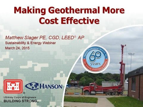 Making Geothermal (GSHP) More Cost Effective