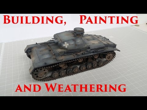 Building, Painting and Weathering: MiniArt Panzer III.D - Full Video Build