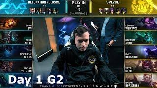 DFM vs SPY   Day 1 Play-In Stage S9 LoL Worlds 2019   DetonatioN FM vs Splyce