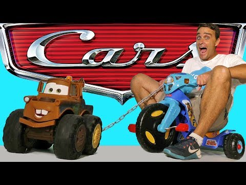 Cars 3 Tow Mater Pulls Paw Patrol Tricycle ! || Disney Toy Review || Konas2002