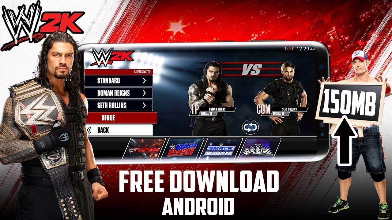 wwe 2k android apk data mod