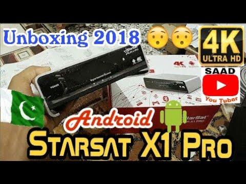 Starsat X1 Pro satellite receiver 4K Part 2 Starsat X1 pro استقبال الأقمار  الصناعية الروبوت