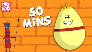 Humpty Dumpty And More Popular English Nursery Rhymes For Kids | 50 Minutes Compilation