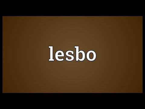 Lesbian pronunciation meaning