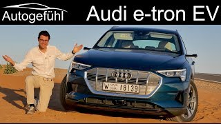 Audi e-tron FULL REVIEW etron EV road driving range vs offroad vs recuperation comparison