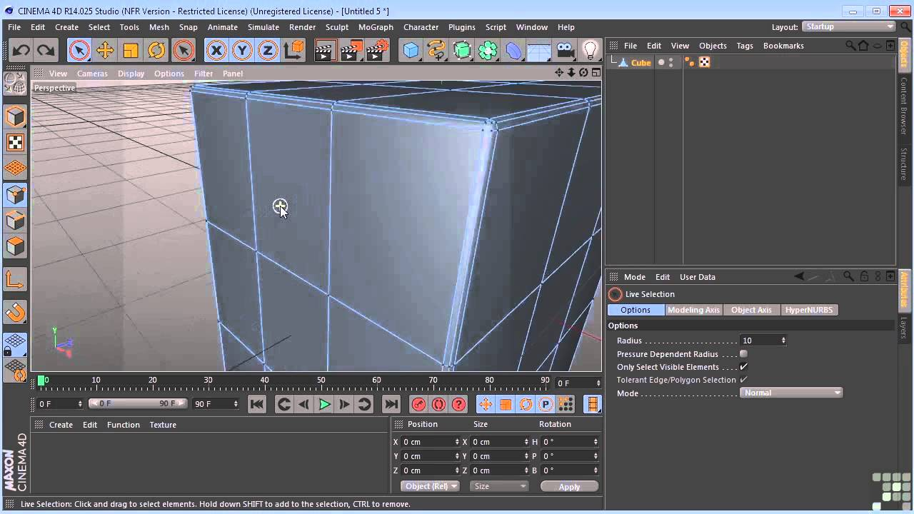 maxon cinema 4d r14 tutorial primitive objects and. Black Bedroom Furniture Sets. Home Design Ideas