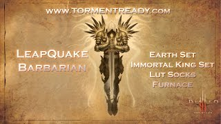 Diablo 3 RoS T6 Leapquake Barbarian Furnace Lut Socks Season One Torment Ready