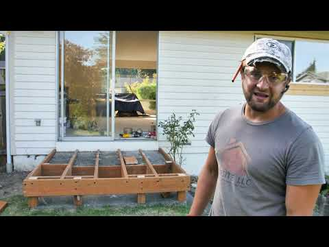 How to hide ugly concrete stairs with new deck!