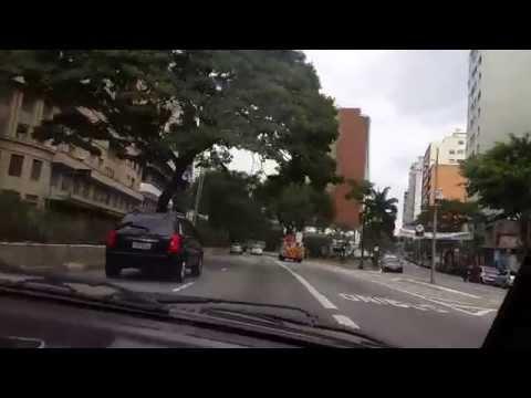 driving through downtown Sao Paulo 6/29/14