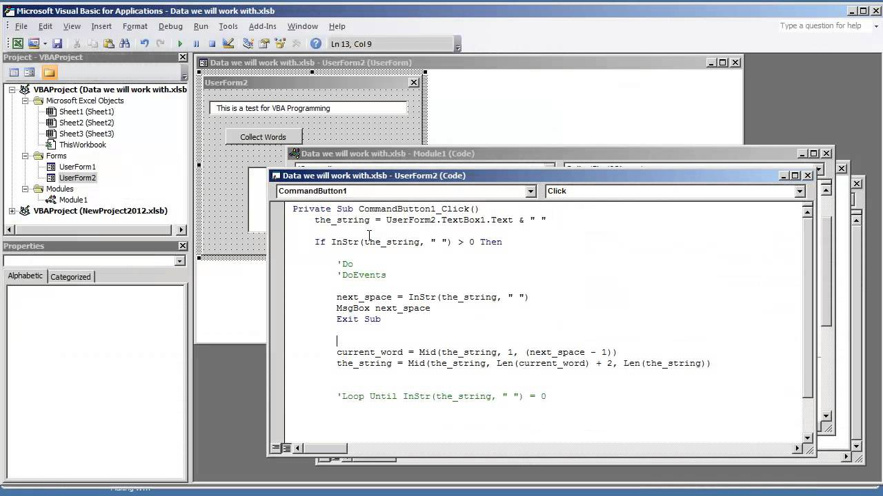 Vba Excel Programming How To Collect Extract Words