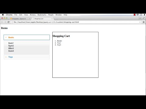 jQuery UI Droppable: How to Implement a Shopping Cart Interface using jQuery UI Droppable