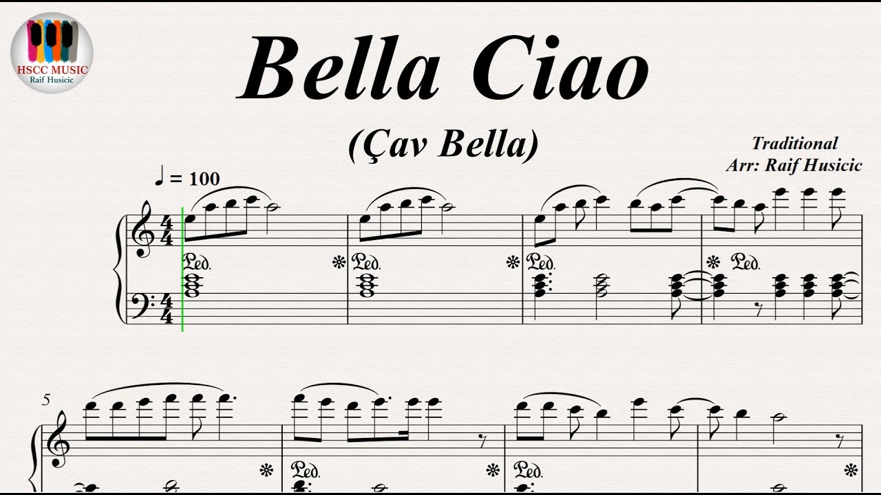 Bella Ciao çav Bella Piano Youtube