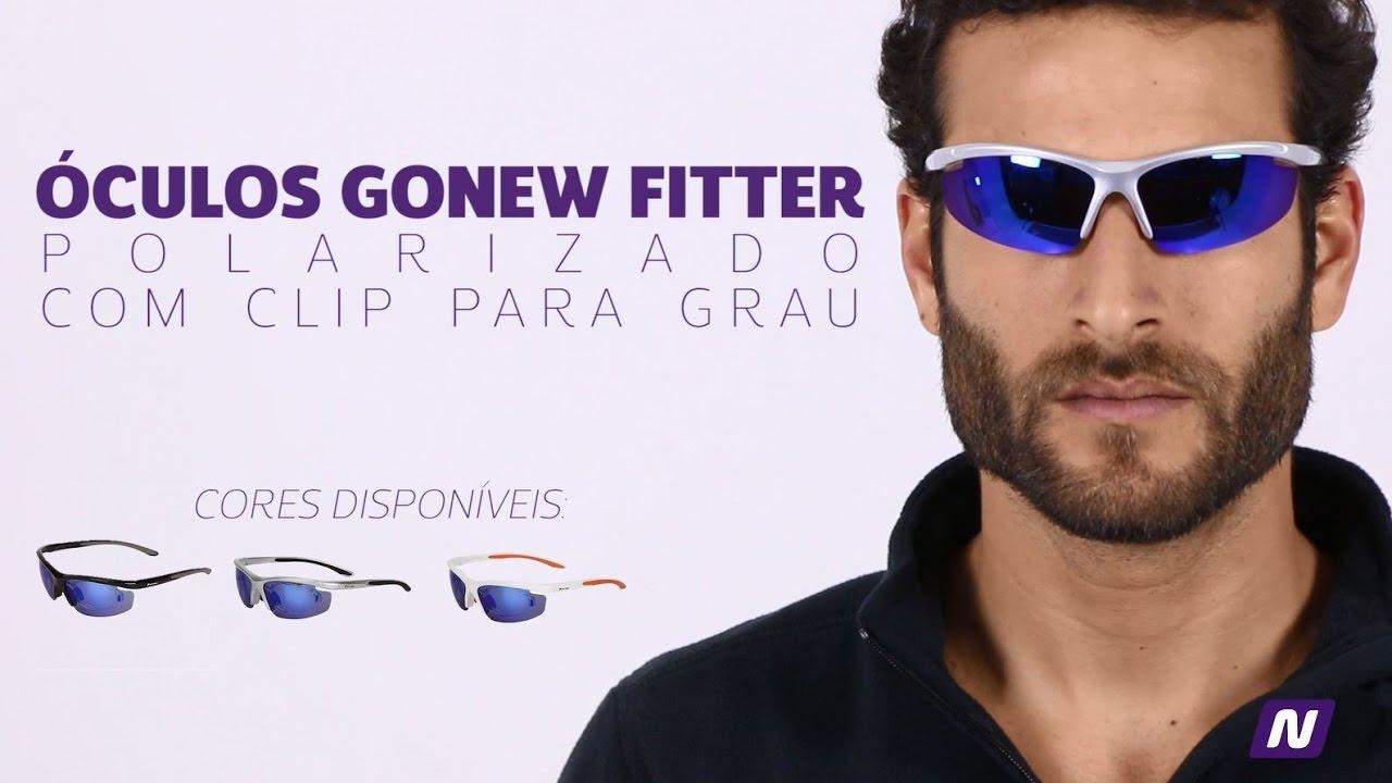 Óculos Gonew Fitter com Clip para Grau Removível - Polarizado - YouTube c9e5a42c27