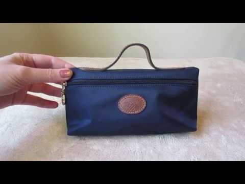Longchamp Le Pliage cosmetic case : Review and what fits