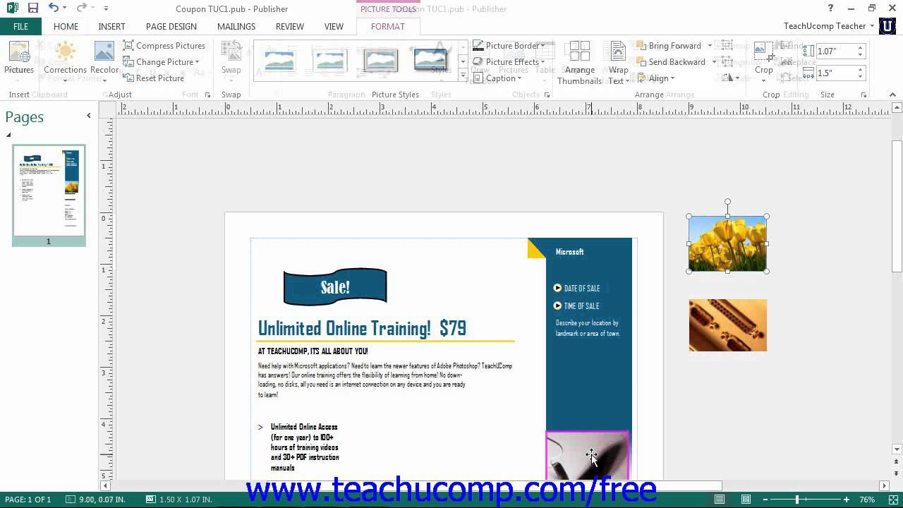 how to use microsoft publisher 2013 to make a banner