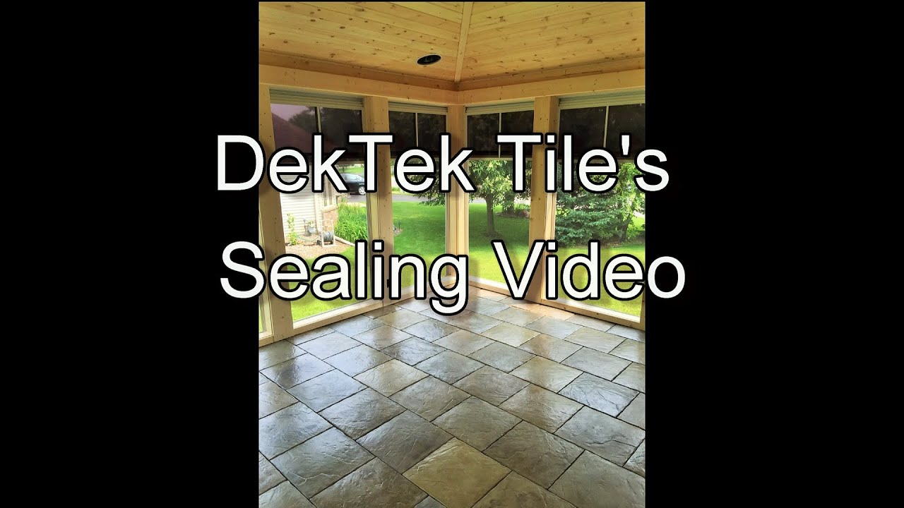 How to seal a dektek tile deck youtube how to seal a dektek tile deck dailygadgetfo Choice Image
