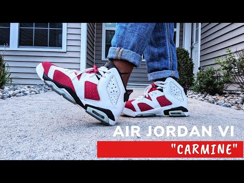 reputable site 14bac f1391 AIR JORDAN RETRO 6 CARMINE GS | On Foot and Review