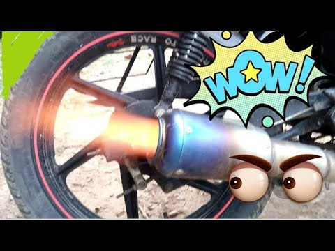 Hero Splender Exhaust Tuning Loudest Bike India Super
