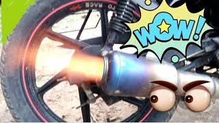 Hero Splender Exhaust Tuning   Loudest bike India   Super Sound   KD'fication