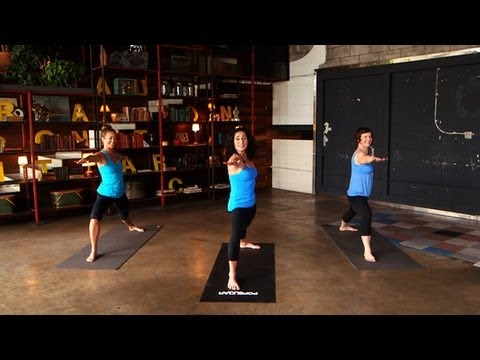 Yoga Workout For Happiness  Mandy Ingber Fitness  Class FitSugar