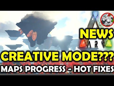 ARK Survival Evolved Creative Mode??? Center update - Maps Progress - Prim Plus New Weapon