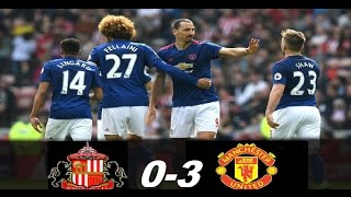 Sunderland vs Manchester United 0-3 -Goals & Highlights Premier League 09/04/2017