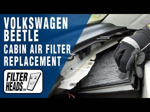 how to replace cabin air filter volkswagen beetle youtube. Black Bedroom Furniture Sets. Home Design Ideas